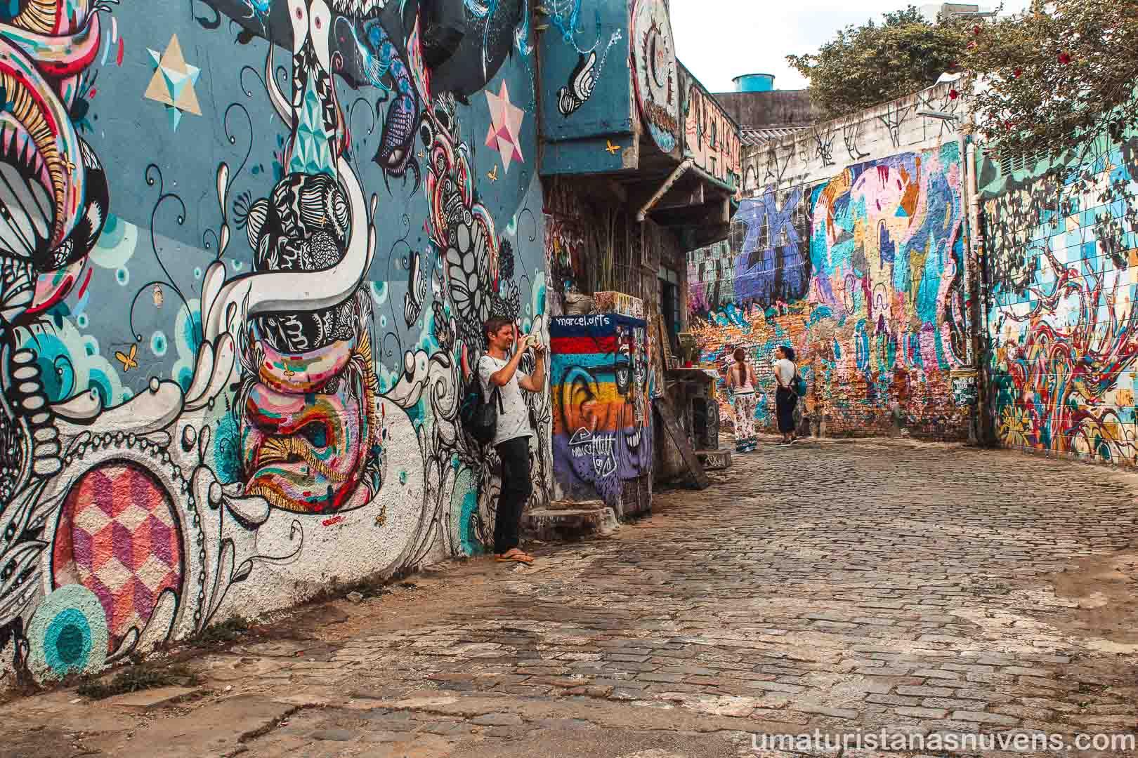 Beco do Batman no Vila Madalena em São Paulo - arte de rua