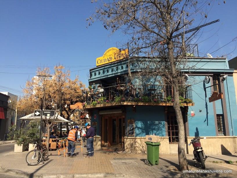 Restaurante na Calle Constituición em Santiago no Chile