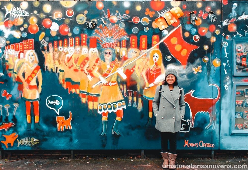 O que fazer em Copenhague - Dinamarca - arte de rua