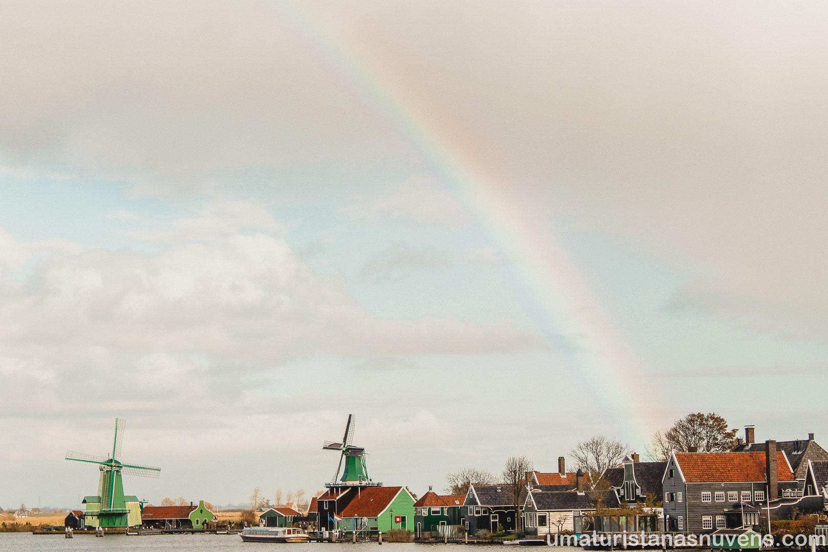 Zaanse Schans - vilarejo dos moinhos na Holanda