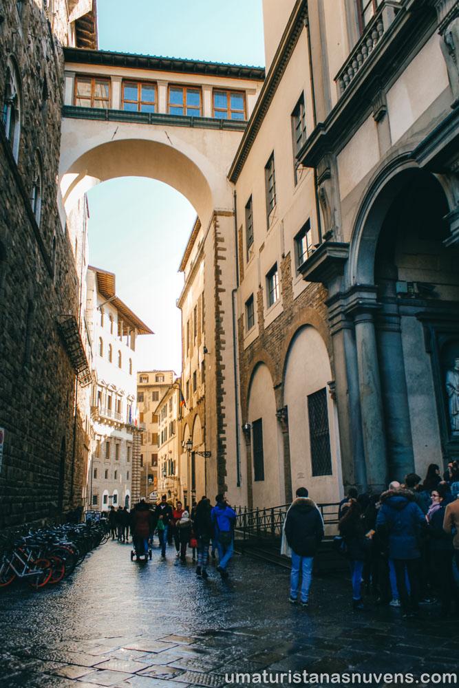 O que fazer em Florença - corredor vasariano