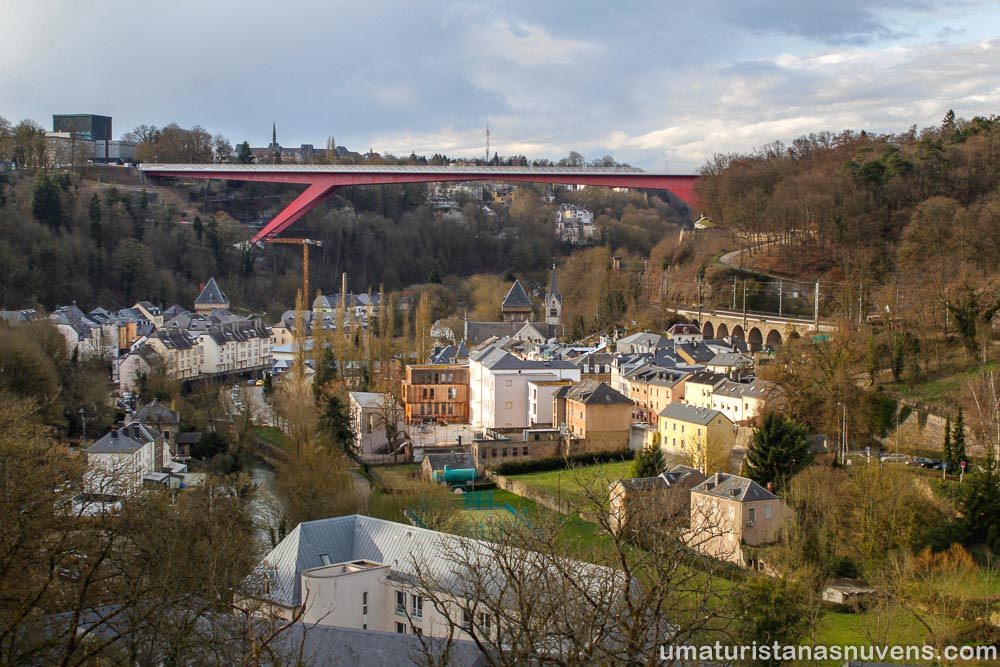 Motivos para visitar a Cidade de Luxemburgo - Grã-duquesa Charlotte Bridge