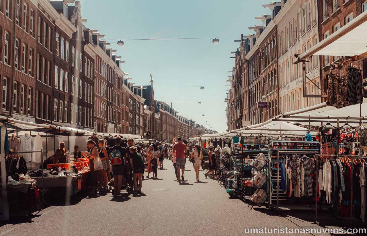 Atrações gratuitas em Amsterdam - Feira Albert Cuyp