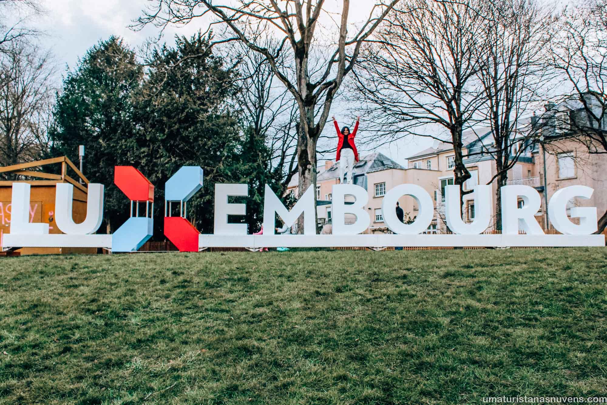 o que fazer em Luxemburgo em 1 dia - letreiro